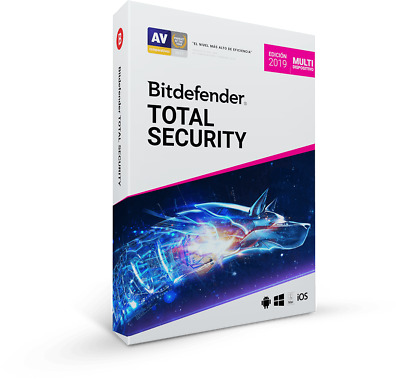 Bitdefender Total Security 2019 | 1 dispositivo | 2 años