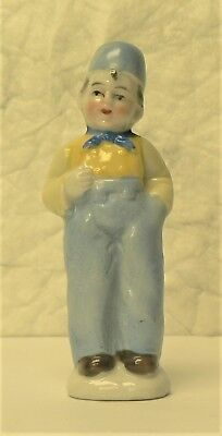 Vintage Porcelain Beautiful DUTCH BOY in Blue & Yellow - made in Japan