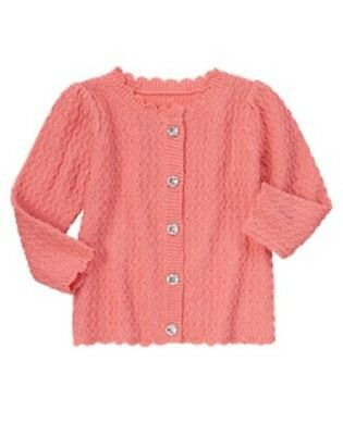 2f1a78f13fb Gymboree Snowflake Glamour Sweater Size 2T New Pink Sparkle Cardigan Girls