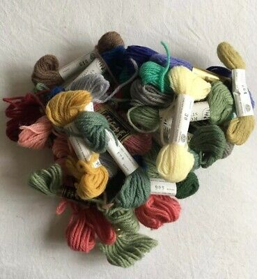 Retro Job Lot Of Tapestry Wool Needlepoint Rowan And Anchor Nice Colours