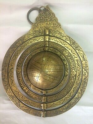 Antique Brass Astrolabe islamic Scientific Astrolabe Astronomy solar watch RARE
