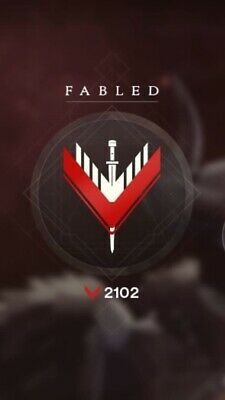 DESTINY 2 , Competitive Rank Up / Glory Points fabled PS4 0