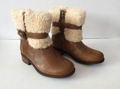36ade22414a NIB NEW AUTHENTIC UGG Cassidee Tall Leather & Knit Boots Chocolate ...