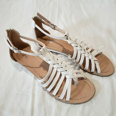 de06b6ad93e6 APT. 9 WOMEN S Braided Thong Wedge White Sandals from Kohl s Size 8M ...
