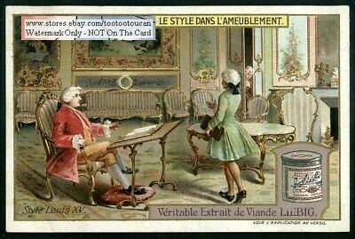 Louis 15th Style Furniture c1909 Trade Ad Card