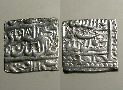 AKBAR THE GREAT SILVER RUPEE____Mughal Empire____MILITARY CONQUESTS_____Square
