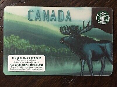 "Canada Series Starbucks ""CANADA MOOSE 2019"" - Gift Card - New - No Value"