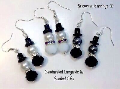 Snowmen Earrings,Christmas Earrings,Stocking Filler,Christmas Gift,Gifts For Her