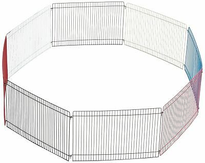 Indoor Fence Gate Metal For Small Animal Expandable 8 Elements Of 34 Cm × 23 Cm