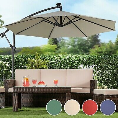 Garden Gear Cantilever Banana Sun Shade Parasol Patio 2.7m Hanging Umbrella NEW