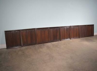*16 Feet of Antique French Gothic Walnut Boiserie/Paneling/Wainscoting Salvage