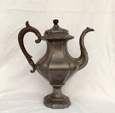"Large 19th Century 14"" GEORGIAN Pewter Coffee Pot JAMES DIXON & SONS C1830"