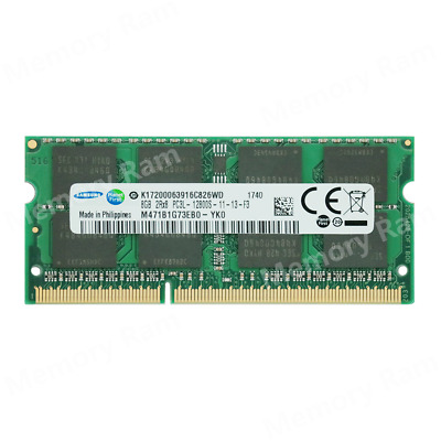 NEW Samsung 8GB PC3L-12800S DDR3-1600MHZ 1.35V 204pin SO-DIMM Laptop Memory Ram