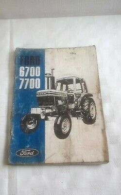 Ford 6700 7700 Tractor Operator's Manual