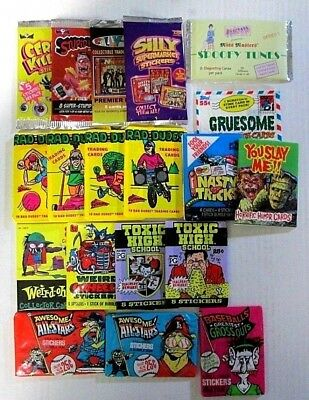 Parody/humor Trading Cards Pack Lot 19 Sealed Packs Stupid ,silly,toxic,gruesome
