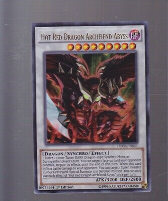 Yugioh Hot Red Dragon Archfiend Abyss 1st Ed HSRD-EN041 Ultra Rare