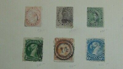 Canada Classics Stamp collection on homemade pages w/ 75 stamps w/NF