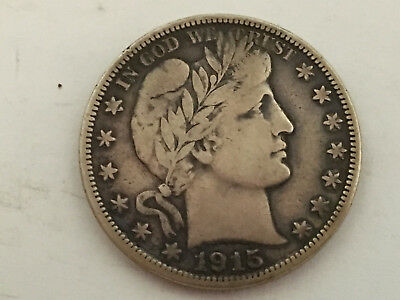 1915-S Nice Original in Fine/Very Fine Condition Barber Half Dollar
