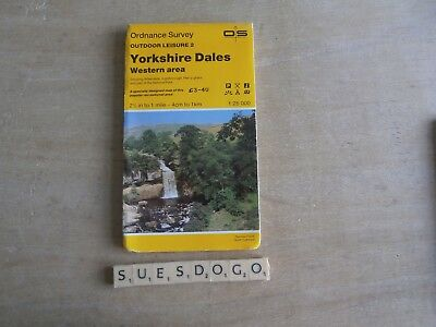 Os Ordnance Survey Outdoor Leisure Map - 2 Yorkshire Dales Western Area 1985