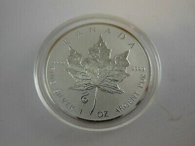 2013 Canadian $5 Maple Leaf Year of the Snake Privy .9999 Silver Reverse Proof