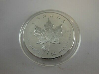 2014 Canadian $5 Maple Leaf Year of the Horse Privy .9999 Silver Reverse Proof