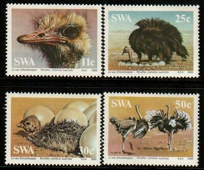 SWA SOUTH WEST AFRICA 1985 Ostriches/Nature Conservation SG 439-442 MNH BIRDS