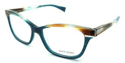 0483ac93b2f5 Alain Mikli Rx Eyeglasses Frames A03037 004 53-15-140 Paint Brown Turquoise  Dot