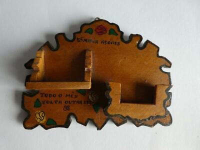 Cute Vintage Dollhouse Miniature Wood Kitchen Wall Shelf Plate Rack