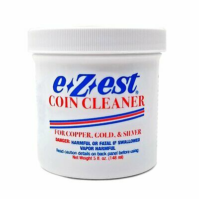 e-Z-est eZest Easy Coin Cleaner Copper Gold Silver Jewelry - 5 oz Jar
