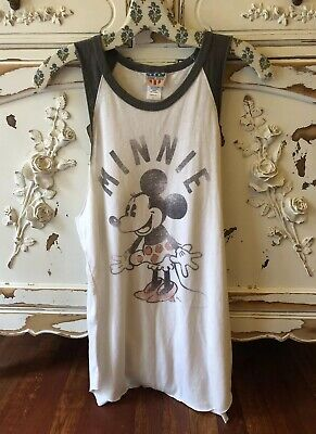 af95779f856e8 Junk Food Urban Outfitters Disney MINNIE MOUSE Tunic Tank Top Graphic SZ  Large