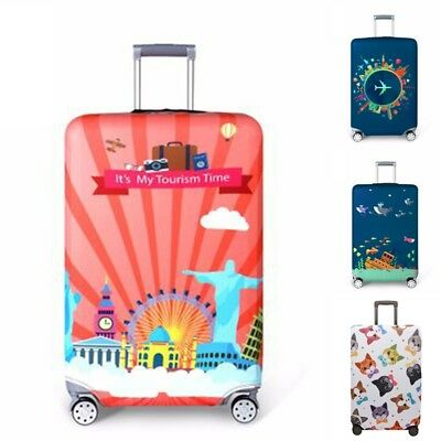"""18""""-32"""" Creative Travel Luggage Cover Dustproof Suitcase Protector Skin Case US"""