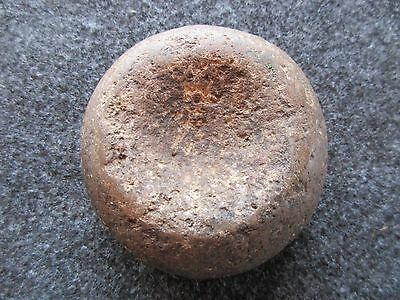 Northern Plains Native American Stone Discoidal, Indian Game Stone, Buf-00795