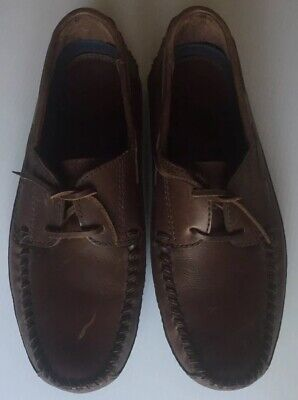 74d500076d2 H.S. Trask Colter Creek Mens Leather Shoes Size 11.5 Leather Loafers  Stitched