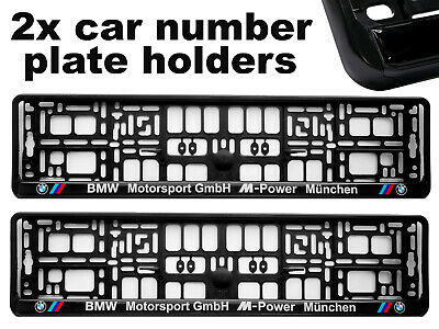 2 x Doming CAR Number Plate Surround Holder Frames BEST FIT MUNCHEN for BMW
