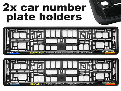 2 x Doming CAR Number Plate Surround Holder Frames BEST FIT SPORT for RENAULT