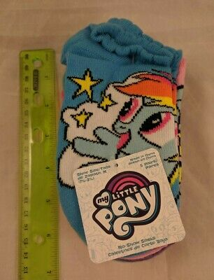 My Little Pony Child's No-Show Socks 5 Pairs Cross My Heart Hope To Fly Fabulous