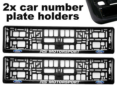 2 x Doming CAR Number Plate Surround Holder Frames BEST FIT for FORD