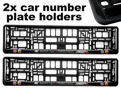 2 x Doming CAR Number Plate Surround Holder Frames BEST FIT ABARTH for FIAT