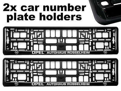 2x Doming CAR Number Plate Surround Holder Frames BEST FIT for OPEL