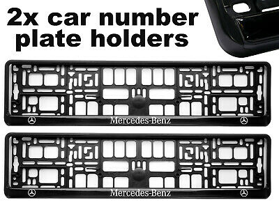 2 x Doming CAR Number Plate Surround Holder Frames BEST FIT RACING for MERCEDES