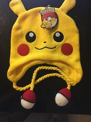 a332d647386 BIOWORLD POKEMON PIKACHU Laplander Knit Beanie Cap winter ski Hat ...
