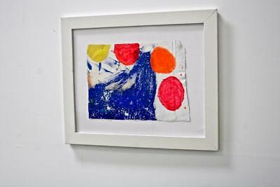 """UNTITLED"" CHUCK GREATREX 11"" x 15 "" ORIGINAL FRAMED ABSTRACT PAINTING NICE!"