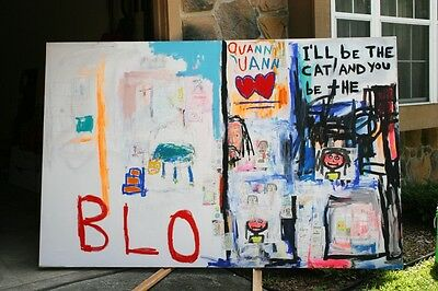 """BLO "" by Chuck Greatrex 62"" x 96"" Original Outsider Painting Art"