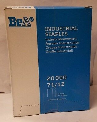 "New BeA Industrial Staples 20000 71/12 12mm 1/2"" Upholstery Staple 22 Gauge car"