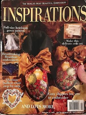 INSPIRATIONS magazine #4 - 1994 - Beautiful Embroidery - with pattern sheets