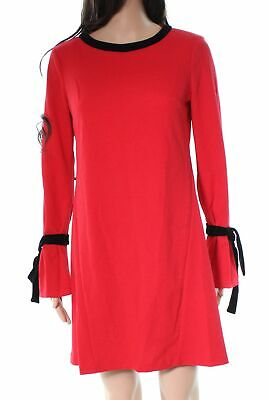 c09acd657337 Donna Morgan NEW Red Easy Ruffle Sleeve Women's Size 2 Shift Dress $118 #249