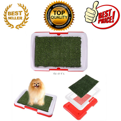 Pet Dog Potty Toilet Urinary Trainer Grass Mat Pad Patch Indoor Outdoor Home