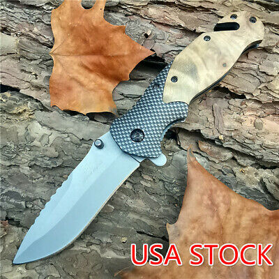 5CR15 X50 Knives Tactical Folding Pocket Knife Titanium Stainless Steel Outdoor
