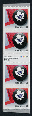 Canada 2664i Gutter pair coil strip MNH NHL Toronto Maple Leafs, Ice Hockey Puck