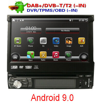 """7""""Android Single 1DIN Car CD DVD Player GPS Nav BT Touch Stereo Radio DAB"""